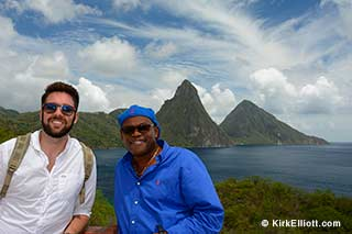 Clint & Kirk @ Jade Mountain St Lucia - Instagram Pic