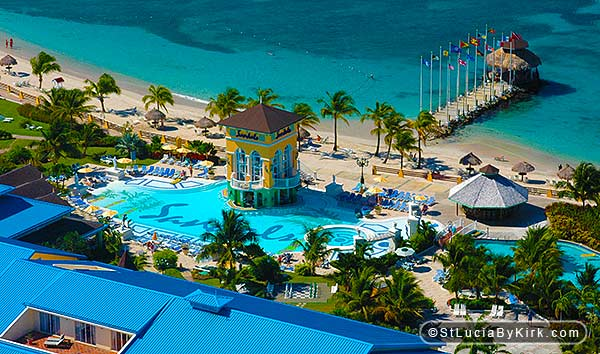 Sandals St Lucia Aerial Photography