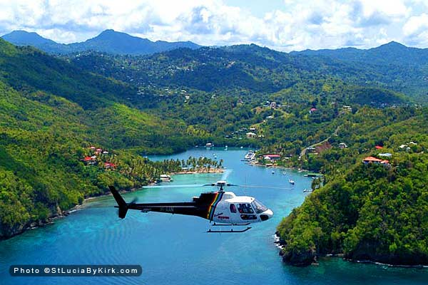 St Lucia Helicopter
