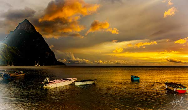 St Lucia Weather The Pitons