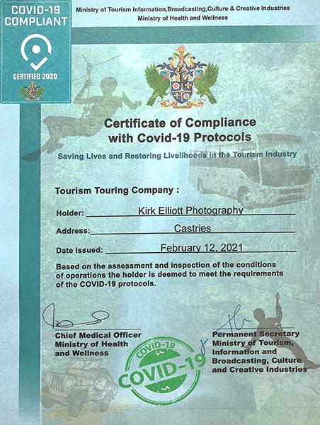 Kirk Elliott COVID Safety Certificate